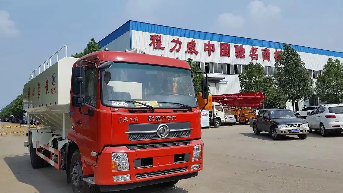 FOTON 10 Tons Bulk Feed Truck with Discharge Auger and Hydraulic System