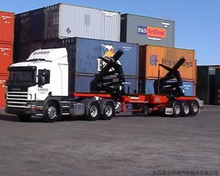 2 Axles 3 axles 20 FT 40 FT automatic Container self loading semi trailer with contianer crane