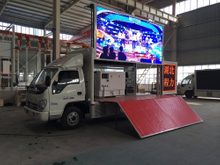 HOWO 4x2 Hydraulic Wingspan Mobile Stage Truck