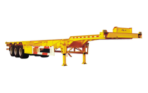 Best quality 3 axles 20ft 40ft skeleton container semi trailer for goods transportation