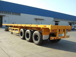 China made 3 axles 20ft 40ft container semi-trailer for freight transporting