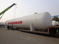 ASME Standard 100MT 100Tons 200M3 200000Liters Horizontal LPG Storage Tank for Africa