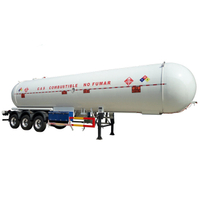 3 BPW Axles 59,600 Liters LPG Tank Trailer with JOST Landing Legs